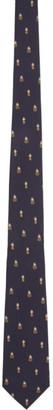 Gucci Navy Supreme Pineapple Tie