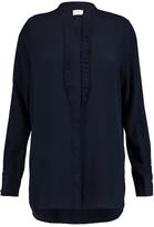Zimmermann Ruffle-trimmed silk shirt
