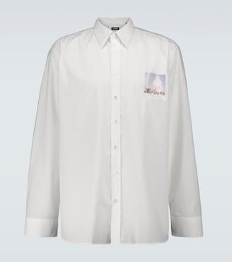 Raf Simons Big-fit logo patch shirt