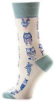 Yo Sox Allover Owl Pattern Crew Socks