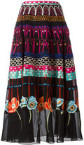 Temperley London printed pleated skirt - women - Silk/Spandex/Elastane - 8
