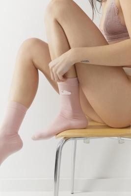 adidas Stan Smith Crew Socks - Pink XS at Urban Outfitters