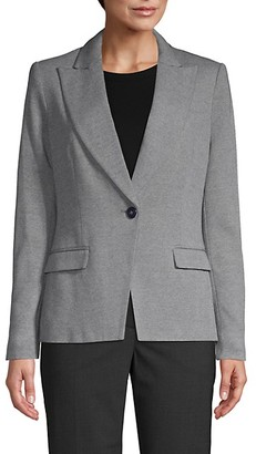 Tommy Hilfiger Elbow Patch Single-Button Blazer