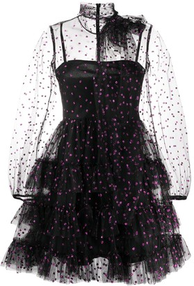 RED Valentino Glitter Polka Dot Tulle Dress