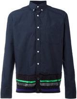 Kolor contrast trim shirt - men - Cotton/Nylon - 2