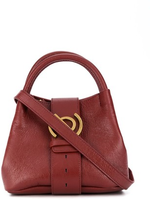 Zanellato Leather Tote Bag With Gold Hardware