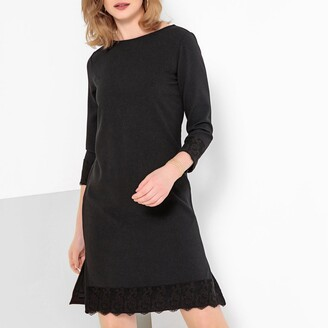 Anne Weyburn Laced Shift Dress