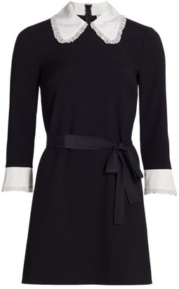 RED Valentino Crepe de Chine Collar Dress
