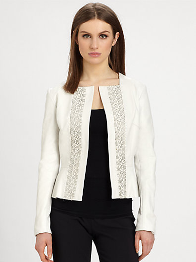 Raoul Leather Peplum Jacket