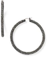 ABS by Allen Schwartz Pave Hoop Earrings
