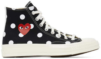 Comme des Garcons Black Converse Edition Polka Dot Heart Chuck 70 High Sneakers