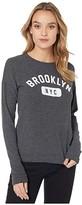 Original Retro Brand The Brooklyn NYC Super Soft Haaci Pullover (Black) Women's Clothing