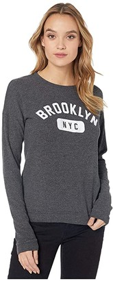 The Original Retro Brand Brooklyn NYC Super Soft Haaci Pullover (Black) Women's Clothing