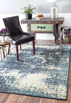 nuLoom Traditional Vintage Inspired Overdyed Distressed Fancy Area Rug, 9' x 12'