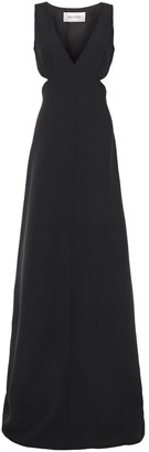 Valentino Cutout Wool And Silk-blend Cady Gown