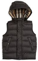 Burberry Baby's & Toddler Boy's Mini Carlton Hooded Quilted Vest