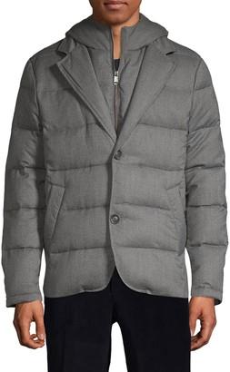 Saks Fifth Avenue Hooded Down-Filled Wool-Blend Jacket