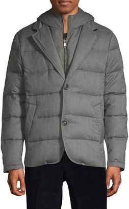 Saks Fifth Avenue Hooded Down-Filled Wool-Blend Jacket