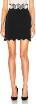 David Koma Embroidered Waistband Skirt
