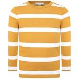 Burberry BurberryBoys Mustard Striped Cotton Top