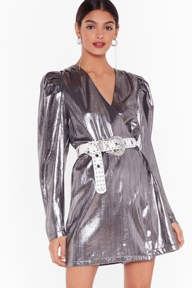 Nasty Gal Womens Studio Time After Time Mini Dress - Silver