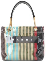 Marni Striped PVC tote