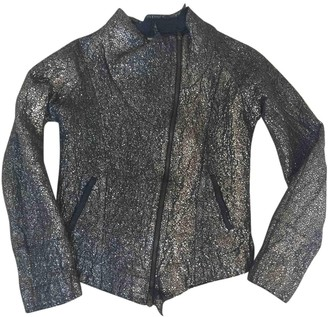 Humanoid Silver Cotton Jacket for Women