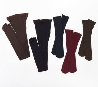 Legacy Set of 2 Microfiber Tights & 3 Trouser Socks