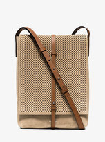 Michael Kors Taos Small Perforated Suede Crossbody