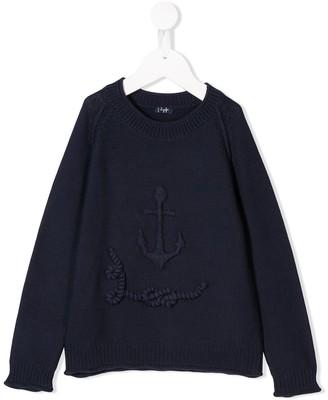 Il Gufo Anchor-Embroidered Jumper