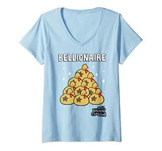 Womens Animal Crossing New Leaf Bellionaire V-Neck T-Shirt