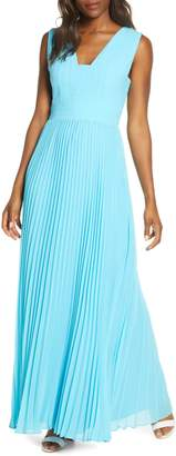 Adelyn Rae Ada Pleated Maxi Dress