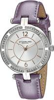Stuhrling Original Women's 550.03 Vogue Analog Display Quartz Purple Watch