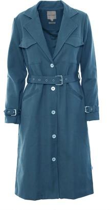 Imaima Halah Trenchcoat In Blue