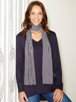 M&Co Tunic top with stripe scarf