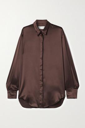 Michael Lo Sordo Oversized Silk-satin Shirt - Brown