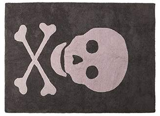 Lorena Canals Washable Rug (Skull Dark Grey/Pink)