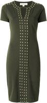 MICHAEL Michael Kors studded short-sleeved dress - women - Polyester/Spandex/Elastane/Viscose/metal - M