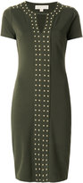 MICHAEL Michael Kors studded short-sleeved dress - women - Polyester/Spandex/Elastane/Viscose/metal - S