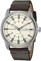 Diesel Men's Armbar Stainless-Steel and Olive Leather Watch DZ1846