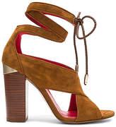 Pura Lopez Ankle Wrap Heel in Cognac