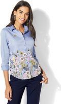 New York & Co. 7th Avenue - Madison Stretch Shirt - Floral - Tall