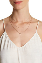Stephan & Co 3-Row Micro Pave Layering Necklace