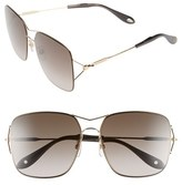 Givenchy Women's 58Mm Oversized Sunglasses - Gold