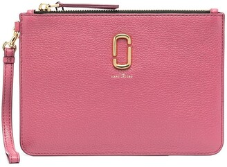 Marc Jacobs Logo Plaque Zip Clutch Bag