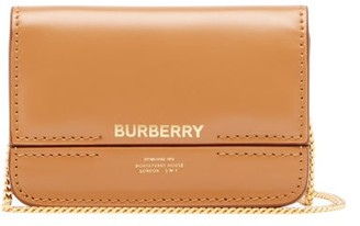 Burberry Jody Chain-strap Logo-print Leather Wallet - Tan