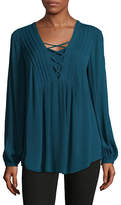 Style And Co. Lace-Up Tunic