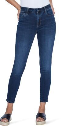 WASH LAB Elizabeth High Waist Ankle Skinny Jeans