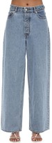 Ganni High Rise Cotton Denim Wide Leg Jeans