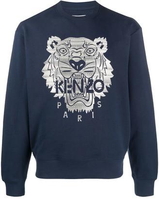 Kenzo Tiger motif crew neck sweatshirt